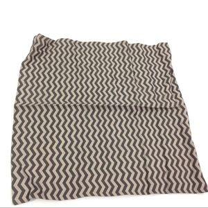 """New H&M Chevron Print Pillow Case Tan Gray 19x19"""""""